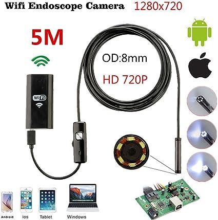 8 LED HD USB Endoscope Endoskop Inspektions Camera Kamera für iPhone Android IOS