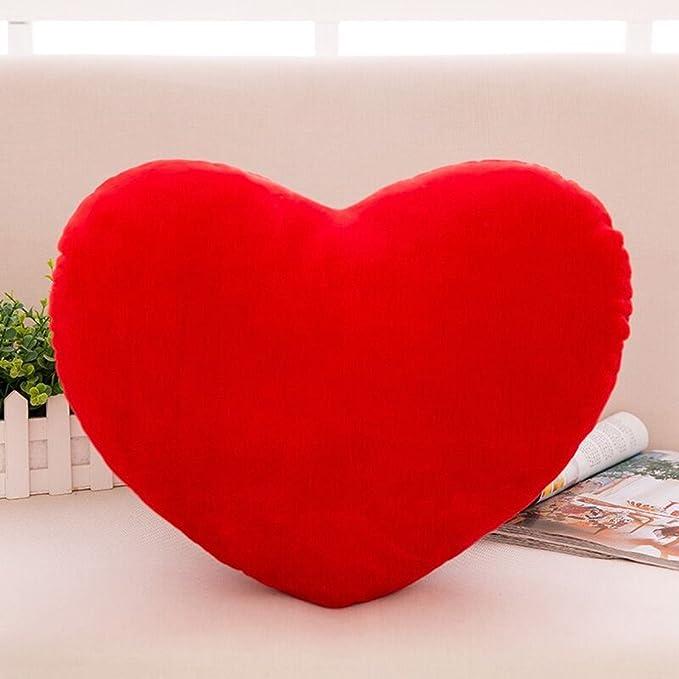 Amazon.com: s-ssoy forma de corazón almohada lindo cojín de ...