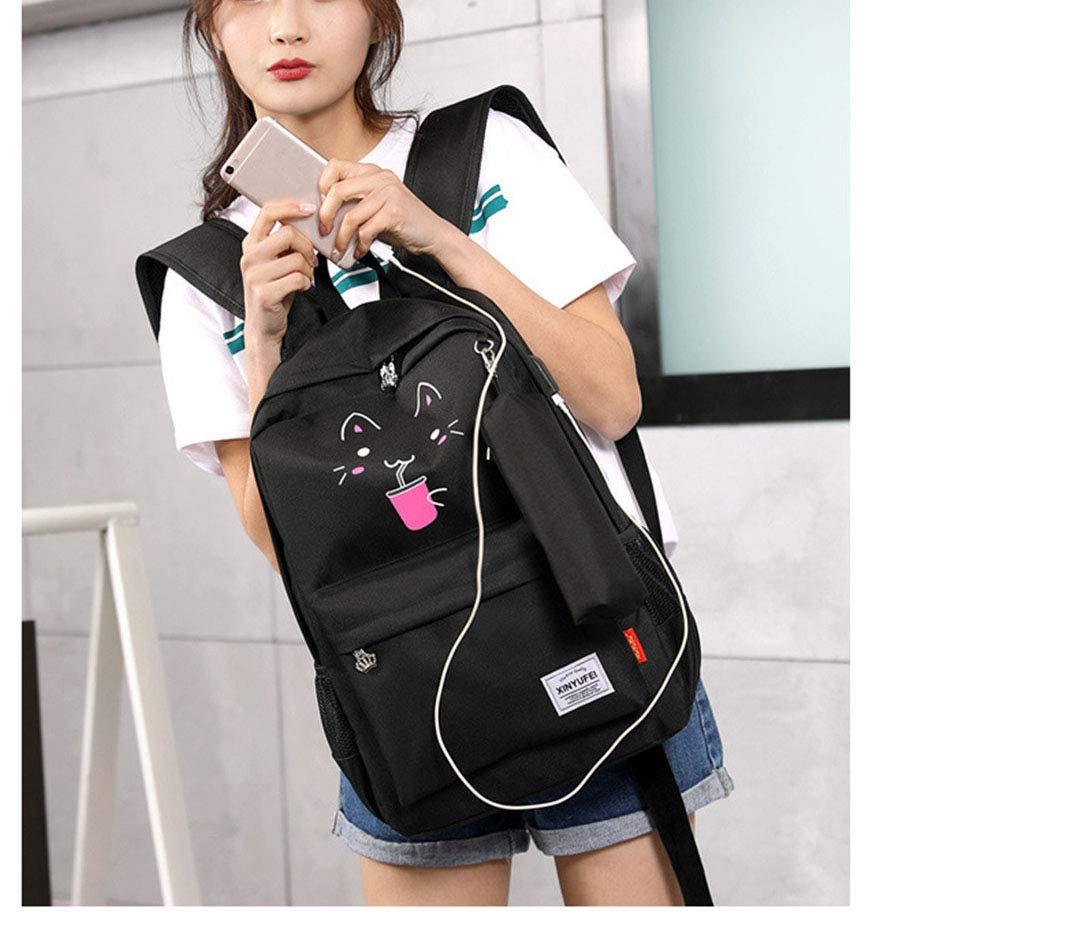 Mochila Luminosa Negra De Gran Capacidad para USB Boy and Girl: Amazon.es: Equipaje