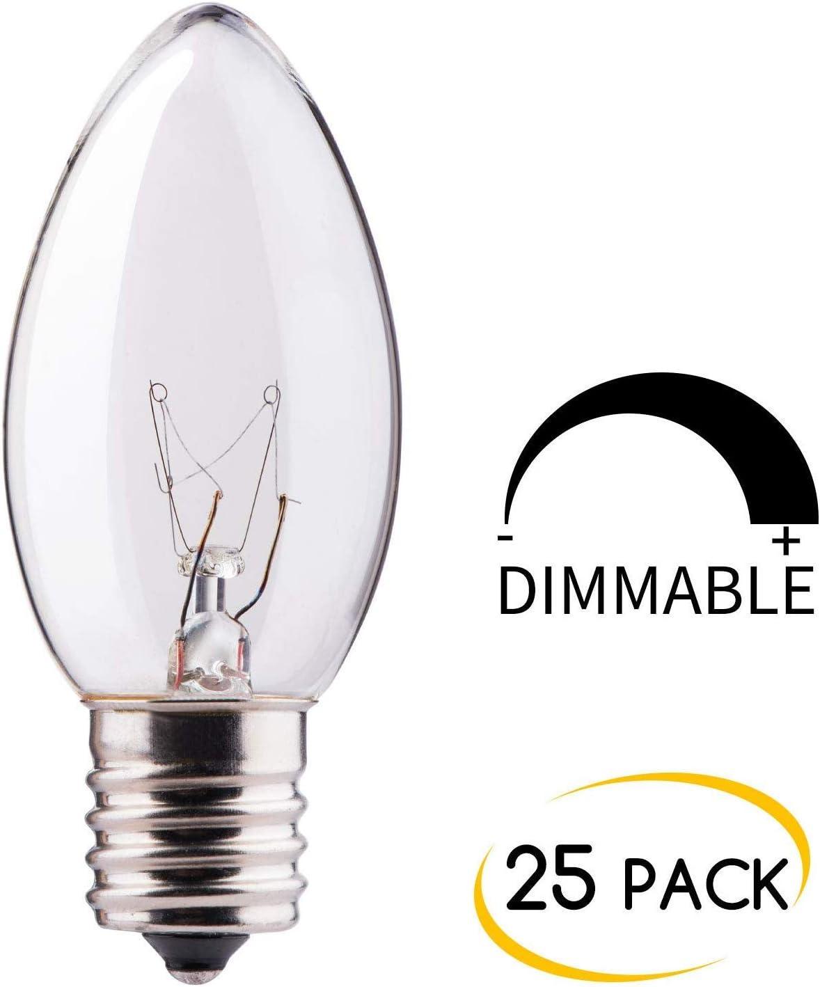LEDC9-25-T-CR-G-12 LED Light Bulbs Case of 10 LED Bulbs Industrial ...
