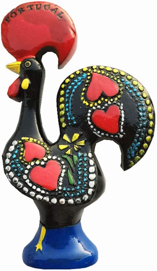3D Barcelos Rooster of Portugal Fridge Magnet Tourist Souvenir Gift Collection, Home Kitchen Decoration Magnetic Sticker Portugal Refrigerator Magnet