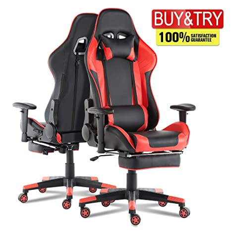 Astounding Romatlink Video Gaming Chair Racing Office Pu Leather High Back Ergonomic 180 Degree Adjustable Swivel Executive Computer Desk Task Large Size With Machost Co Dining Chair Design Ideas Machostcouk