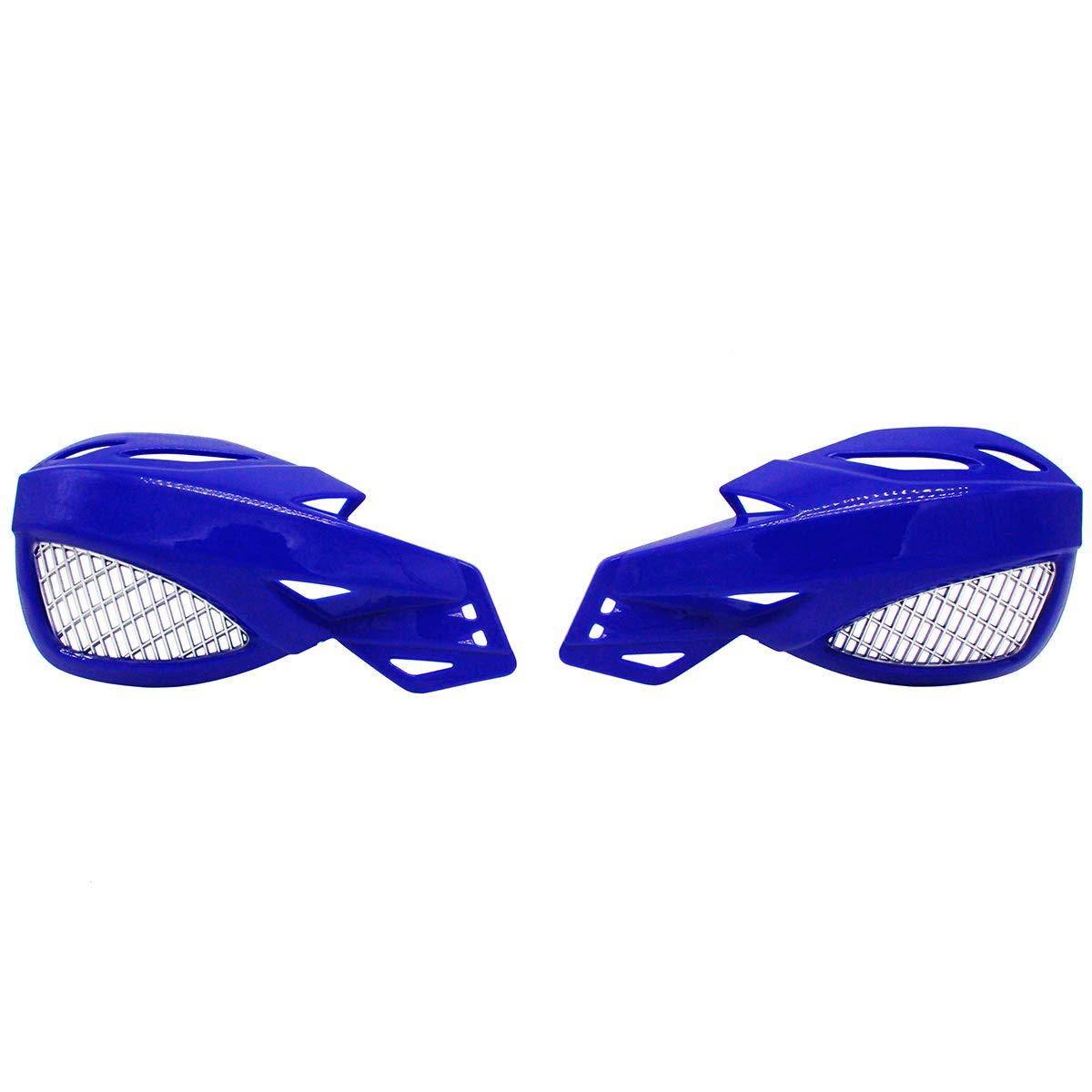 Lozom 7//8 Motorcycle Handguards Handlebar Hand Guards Brush Bar Protector For Motocross Supermoto Racing Dirt Bike ATV Blue