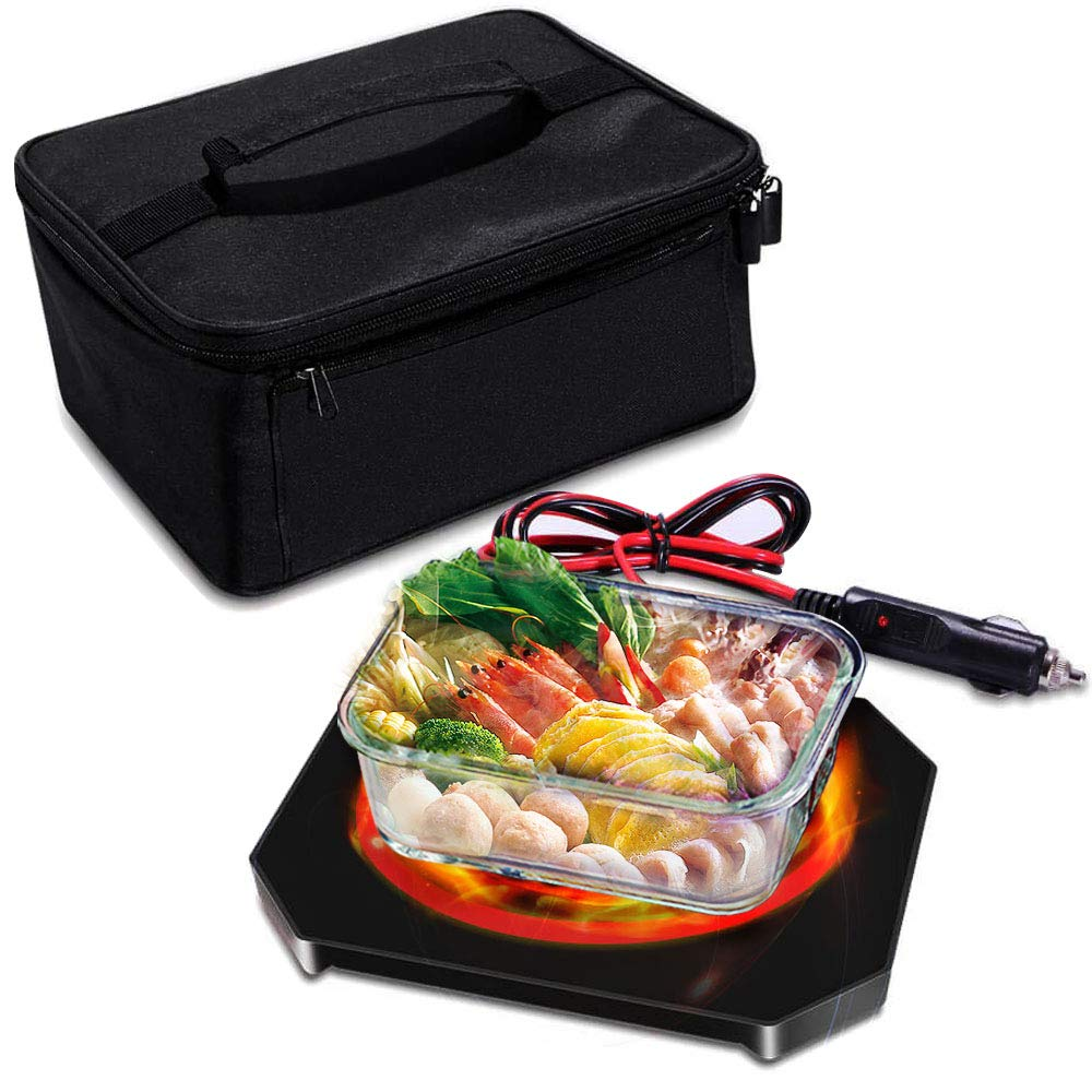 Triangle Power Personal Portable Oven, Electric Slow Cooker For Food,Mini Oven For Meals Reheat,Food Warmer with Lunch Bag For Car(12V) by Triangle Power