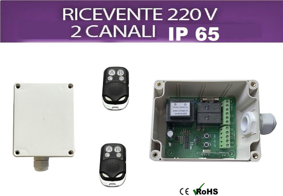 RICEVENTE, RICEVITORE, CENTRALE KIT CENTRALINA LUCI 230V GIARDINO//ALTRO