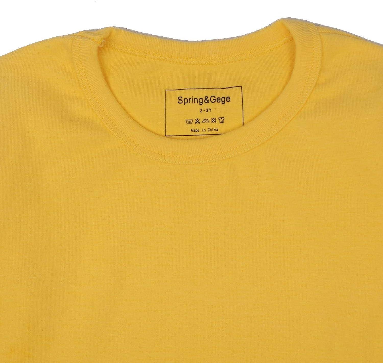 Spring/&Gege Little /& Big Girls Soft Cotton Midweight Long Sleeve T-Shirts