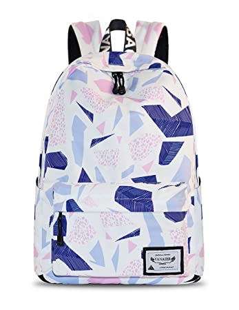 92c8b14518 Yanaier Fashion Leisure Backpack for Girls Teenage Waterproof Cute  Lightweight Simple Design Bookbag Floral Bag Casual
