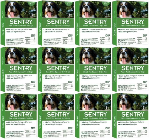 SENTRY Flea & Tick Squeeze-On Dog over 66lbs 36mo (12 x 3mo) by Sentry