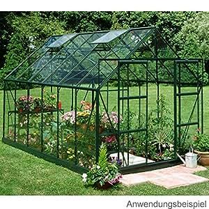 Halls Magnum Aluminium Frame Greenhouse 8ft x 12ft Green - Long Pane Toughened