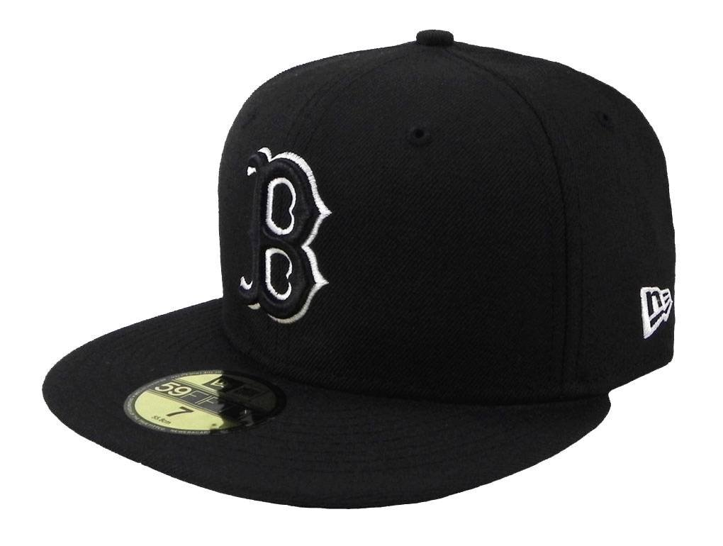 sale retailer deed9 f3a43 New Era MLB Cap Boston Red Sox 59fifty Men s Headwear Black white Fitted Hat
