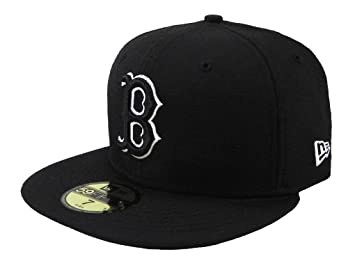 f83ed8833 New Era MLB Cap Boston Red Sox 59fifty Men's Headwear Black/white Fitted Hat