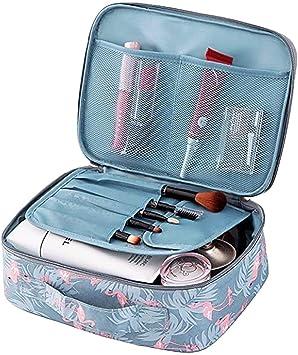 Klein, Flamingo Travel Makeup Bag Kleine Kosmetiktasche Makeup Case Organizer f/ür Frauen und M/ädchen