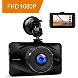 """APEMAN Dash Cam 1080P FHD 3.0"""" Screen DVR Car Dashboard Camera Recorder with 170 Degree Wide Angle, Night Vision, G-sensor, WDR, Loop Recording, Motion Detection, and Parking Monitor"""