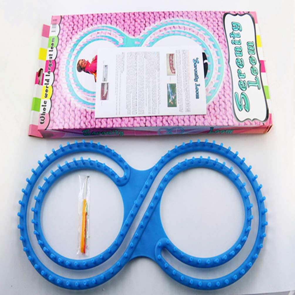 SUPVOX Knitting Loom 8 Shaped DIY Sweater Shawl Scarves Hat Making Craft Tool with Three Accessories Blue