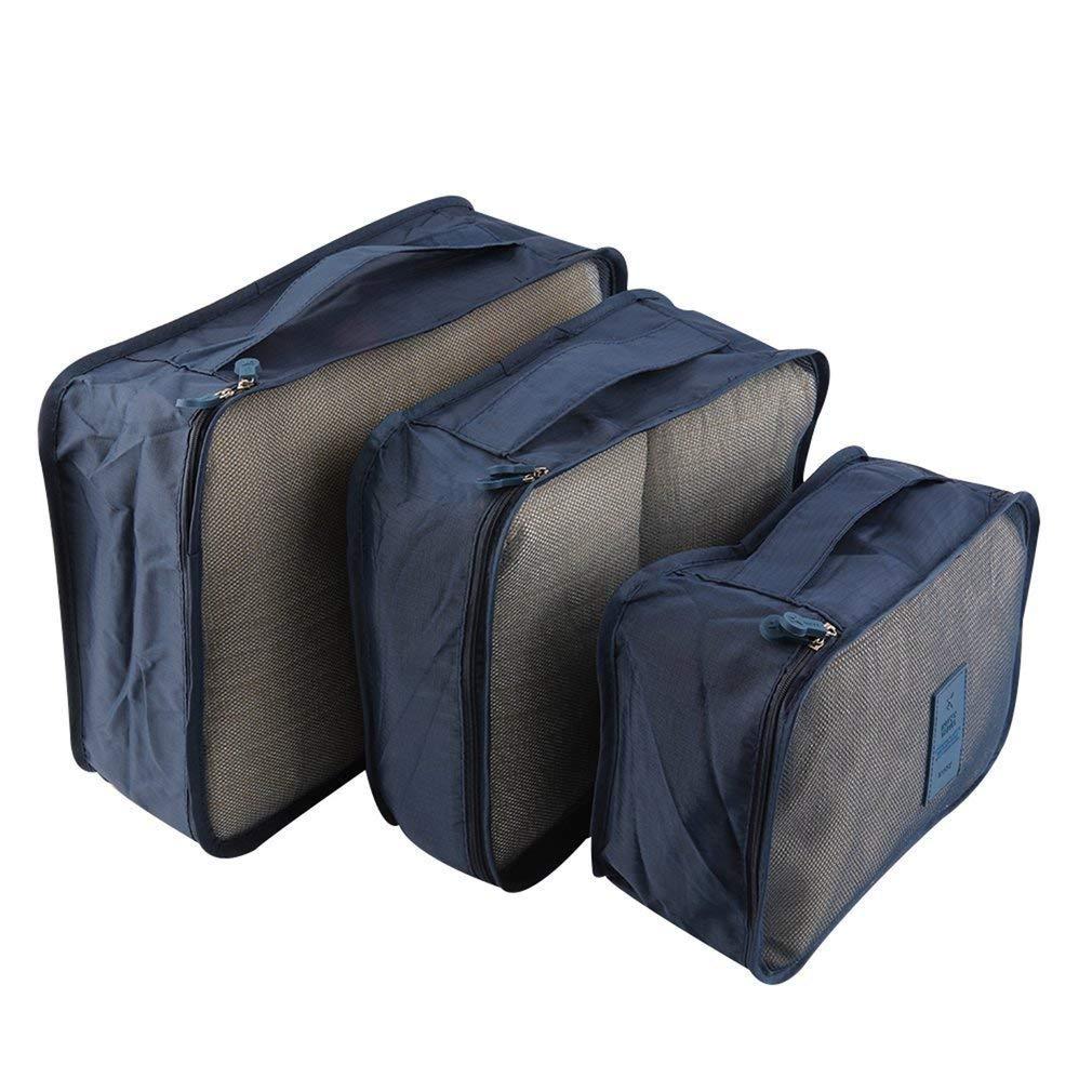 Nicedeal 6pcs/Set Waterproof Clothes Storage Bag Packing Cube Travel Luggage Organizer Storage Box