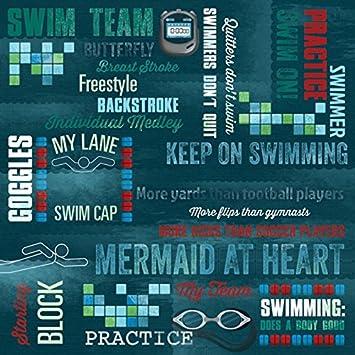 Karen Foster Design Scrapbooking Paper 25 Sheets Swim Lanes 12 x 12 12 x 12 65041