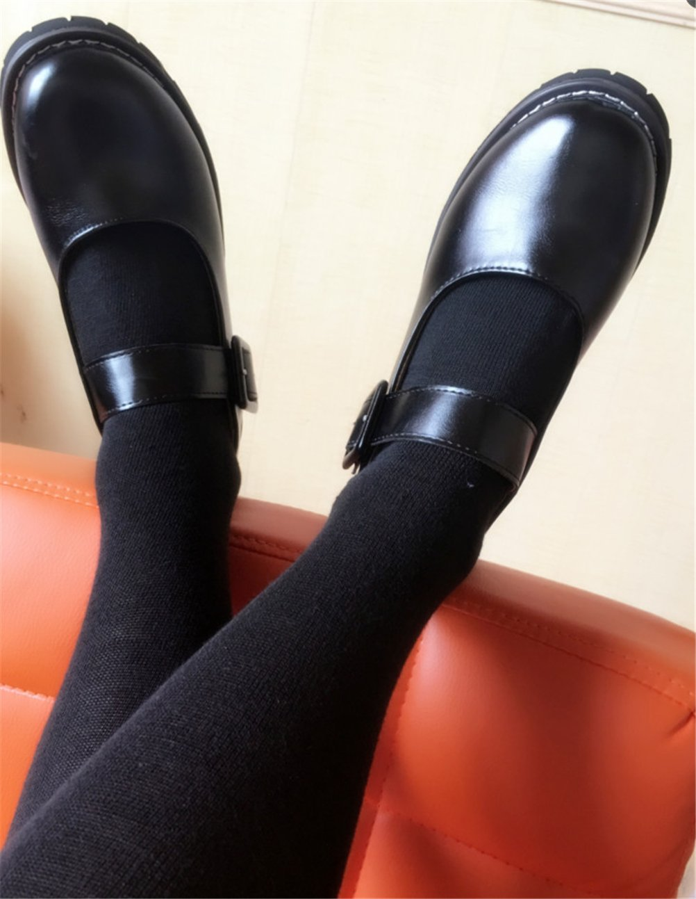 ACE SHOCK Women's Girl's Lolita Low Top Japanese Students Maid Uniform Dress Shoes (5.5, Black) by ACE SHOCK (Image #8)