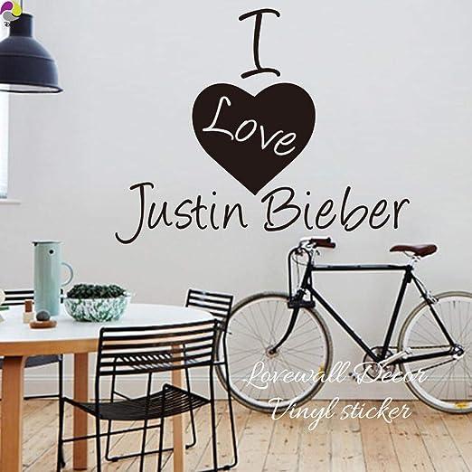 Apliques Me Encanta La Etiqueta De La Pared De Justin Bieber Sala ...