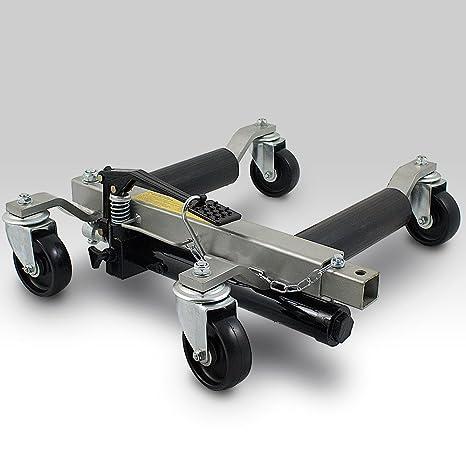 Bituxx® - Posicionador de vehículos, gato, 4 unidades, elevador de vehículos, soporta hasta 680 kg por carrito: Amazon.es: Coche y moto