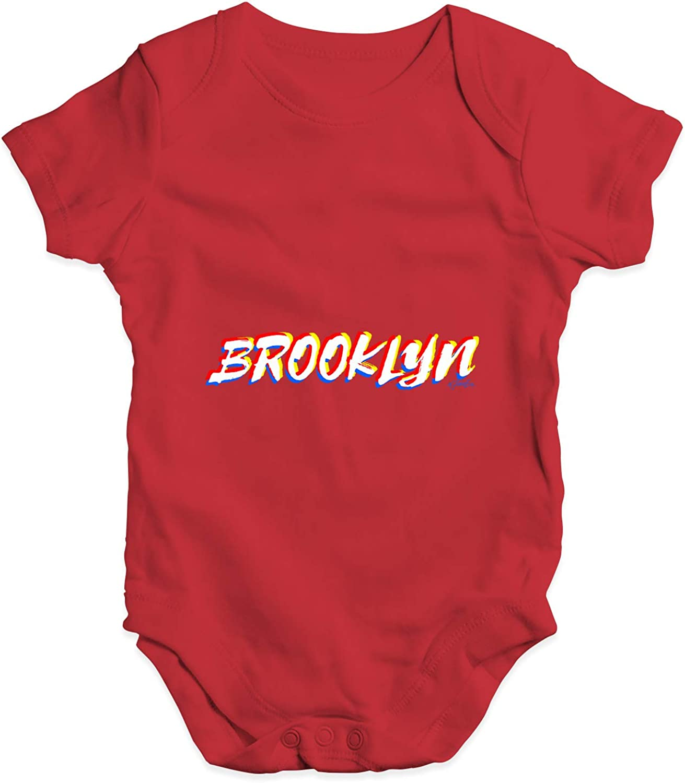 Twisted Envy Brooklyn Baby Unisex Funny Baby Grow Bodysuit