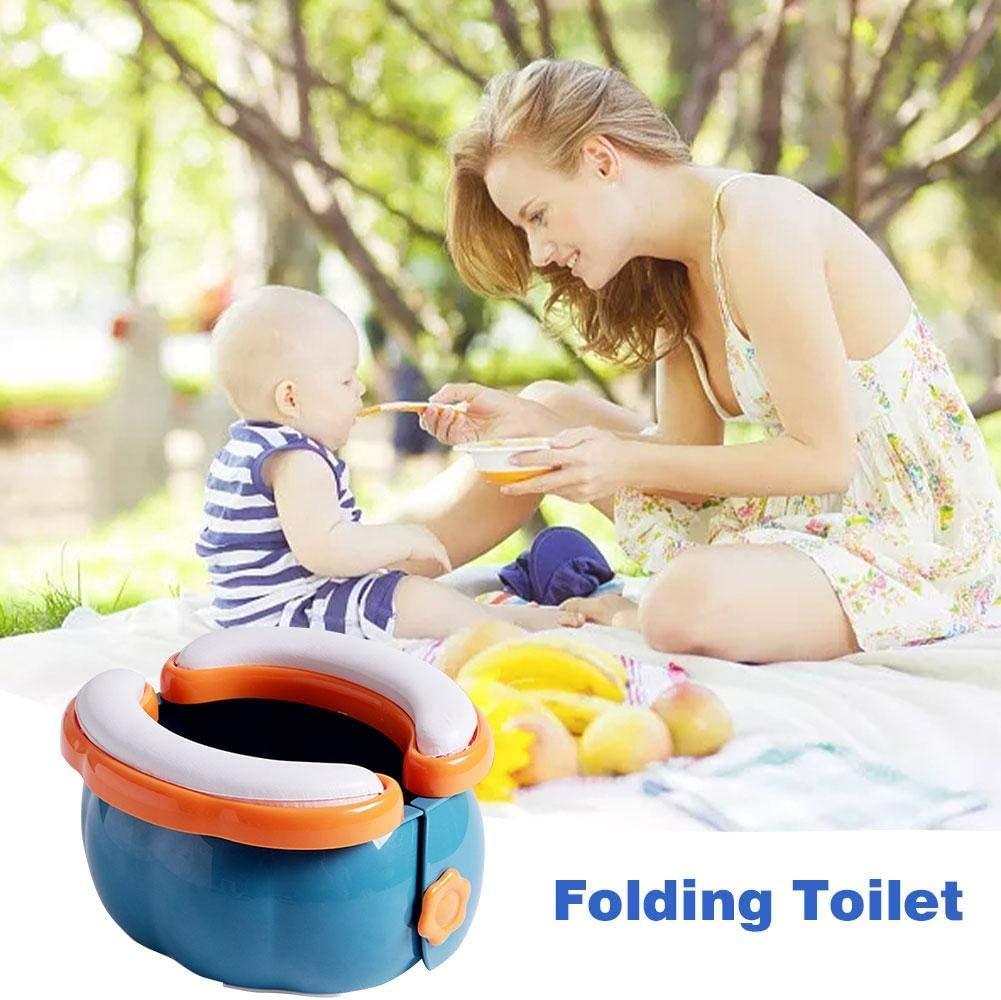 Portable Toilet,Childrens Portable Folding ToiletDisposable Baby Potty Toddler Potty Commode Boy Urinal Car Emergency Toilet Camping Folding Toilet,for Hiking Long Trips Travel