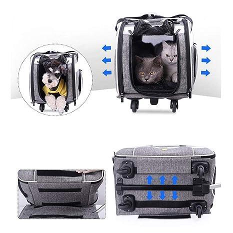 Carro para Mascotas Caja Plegable Desmontaje Respirable Jaula de ...