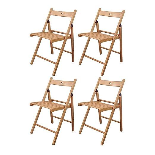 Sedie Pieghevoli Legno Ikea.Lvjing Ikea Sedia Pieghevole In Legno Colore Legno Naturale Set