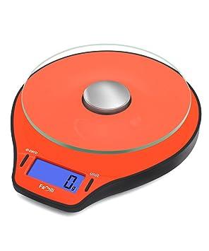 Famili FM206 Báscula de Cocina, Balanza de Cocina, Pantalla LCD,alta Precisión con Plataforma Vitrio,11 lbs / 5000g x 1g: Amazon.es: Hogar