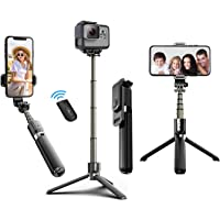 Selfie Stick Tripod, 40 Inch Extendable Selfie Stick Tripod with BT4.0 Wireless Remote Control,More Stable Aluminum…