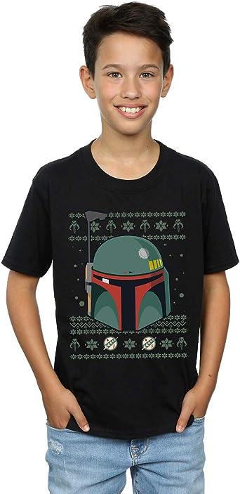 Star Wars Niños Boba Fett Christmas Camiseta: Amazon.es: Ropa ...