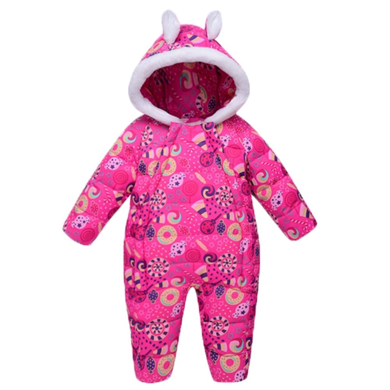 82cc16dfe4b7 OHmais Unisexe Bébé fille garçon combinaison vêtement Automne veste d hiver  doudoune ...