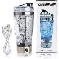 BUYGOO Shaker per Proteine Bottiglia Elettrica(Ultimo Modello 2018), Proteine Shaker Bottiglia Elettriche con Grande Potenza di Rotazione e Tecnologia X-blade, Bottiglia Shaker Proteine 600ml + USB 1M