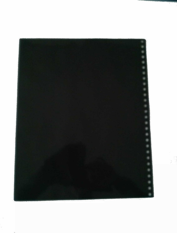 Sam Flax Presentation Folios 11 x 14 28 Hole Punched Black Sheet w//Sheet Protector