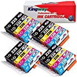 Kingway PGI-225 CLI-226 Ink Cartridge for PIXMA MG5320 MG5220 MX882 IX6520 IP4920 IP4820 MG5120 MG5210 Printer 20 Pack(4 PGBlack,4 Black,4 Cyan,4 Magenta,4 Yellow, Without Grey)