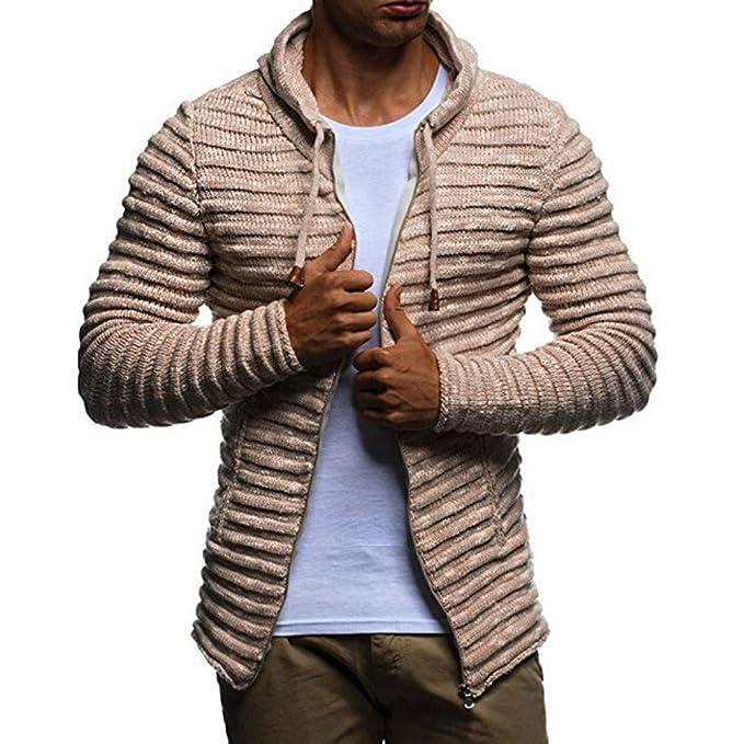 Abrigo de Punto de los Hombres, ♚ Absolute suéter Corto Otoño Invierno sólido de Punto