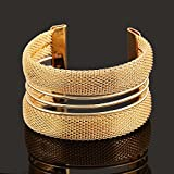 New Fashion Womens Vintage Gold Silver Bangle Punk Cuff Bracelet Jewelry#by pimchanok shop (Styles#15)