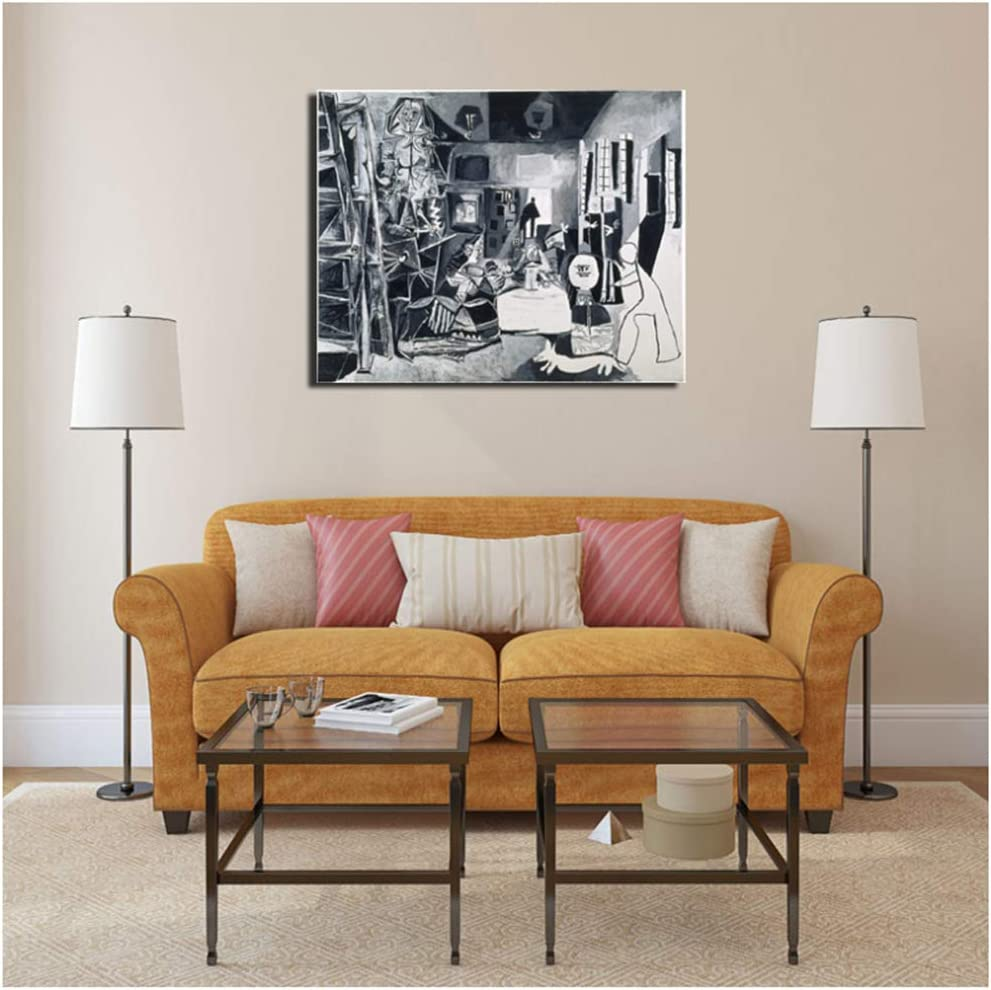 Pablo Picasso And The Meninas Wall Art Canvas Painting Poster Prints Modern Painting Wall Picture For Living Room Home Decor -40x60cm Sin marco