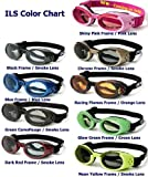 DOGGLES ILS Sunglasses - Protection from UV Rays for Your Dog - Shatterproof and Antifog - Black Frame/Orange Lens - Small
