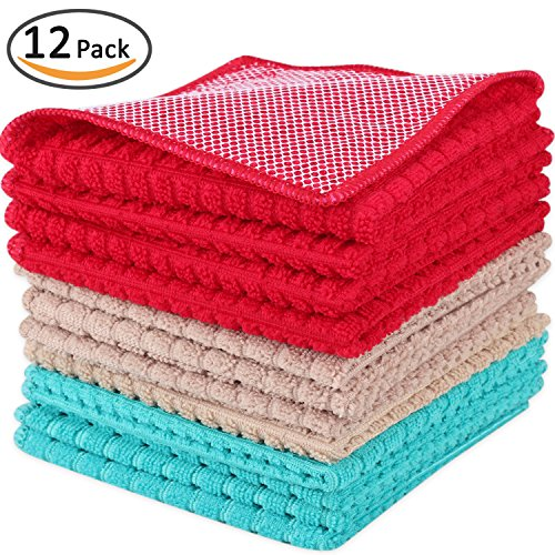 blue and brown dish towels - 6