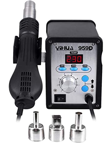 Yihua estacion de soldadura digital SMD con Pistola de Aire Caliente 959D