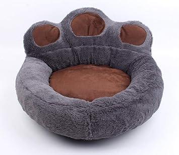 QIONGQIONG Cama Redonda para Mascotas Pata para Perros Almohadilla para Perros Gatos Perros para Calentar El Colchón Comodidad Gris Suave,D: Amazon.es: ...