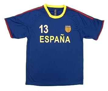 Copa Mundial de la FIFA Espana España de hombre Azul Marino Jersey ...