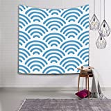 Tapestry Sea wave pattern sofa towel Wall background tapestry Decorative art wall-B 200cm150cm