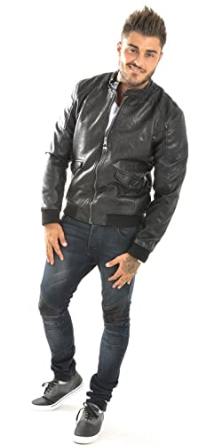 Jeans Industry Veste Homme Justway en Simili-Cuir Croco  Amazon.fr   Vêtements et accessoires 8259da8025b9