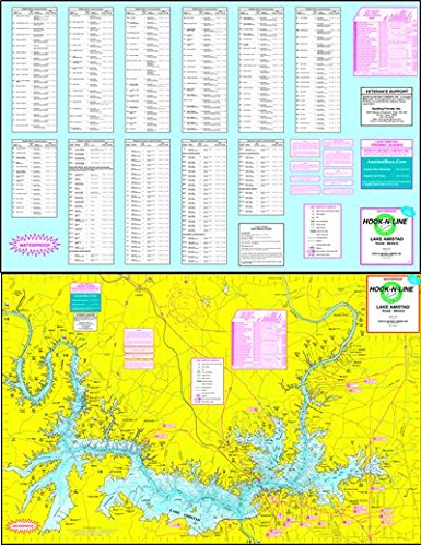 Fishing Hot Spots Pro Maps (Topographical Fishing Map of Lake Amistad - With GPS Hotspots)