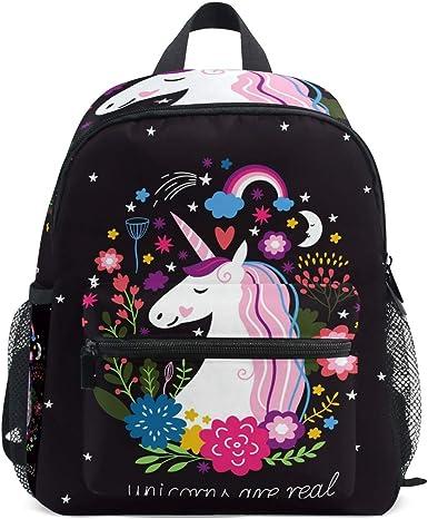GIRLS PERSONALISED UNICORN GLITTER BACKPACK KIDS HORSE RIDE SCHOOL RUCKSACK BAG