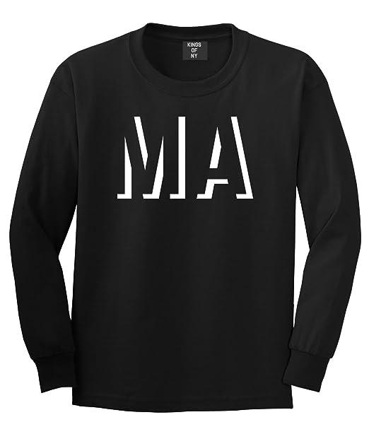 Amazon Kings Of NY MA Massachusetts Abbreviation State Long Sleeve T Shirt Clothing