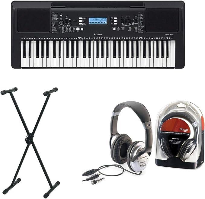 Yamaha PSR-E373 - Juego de teclado II con soporte y ...