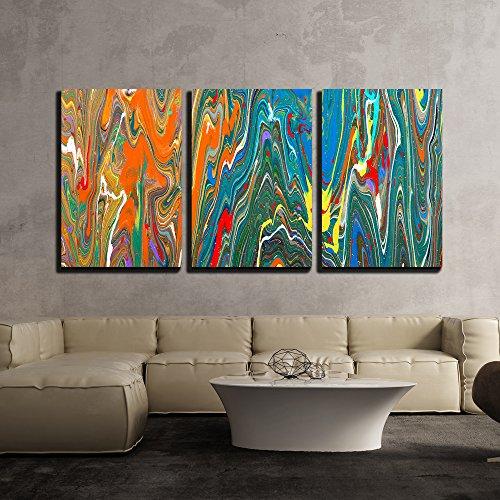 Closeup View of an Original Painting x3 Panels