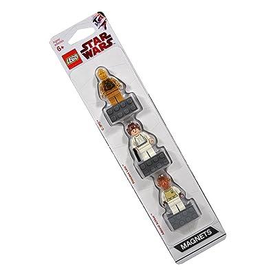 LEGO Star Wars Magnet Set C-3PO, Princess Leia, Admiral Ackbar: Toys & Games